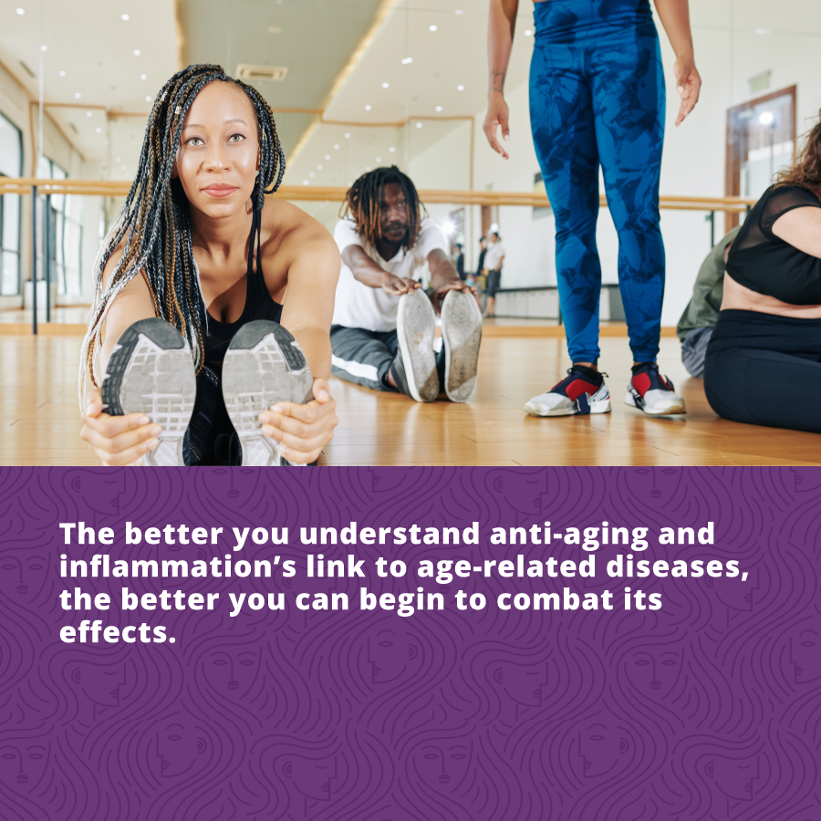 the better you understand Anti-aging and inflammation's link to age related diseases, the better you can begin to combat its effects.