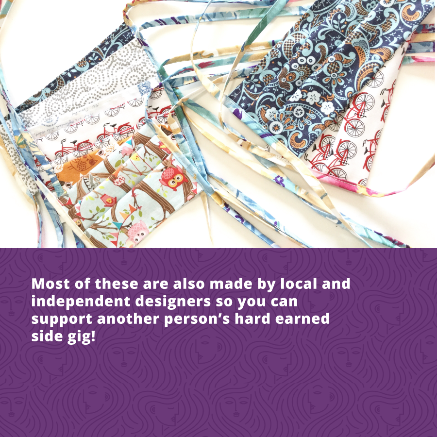 Buy fashionable face masks from local designers.