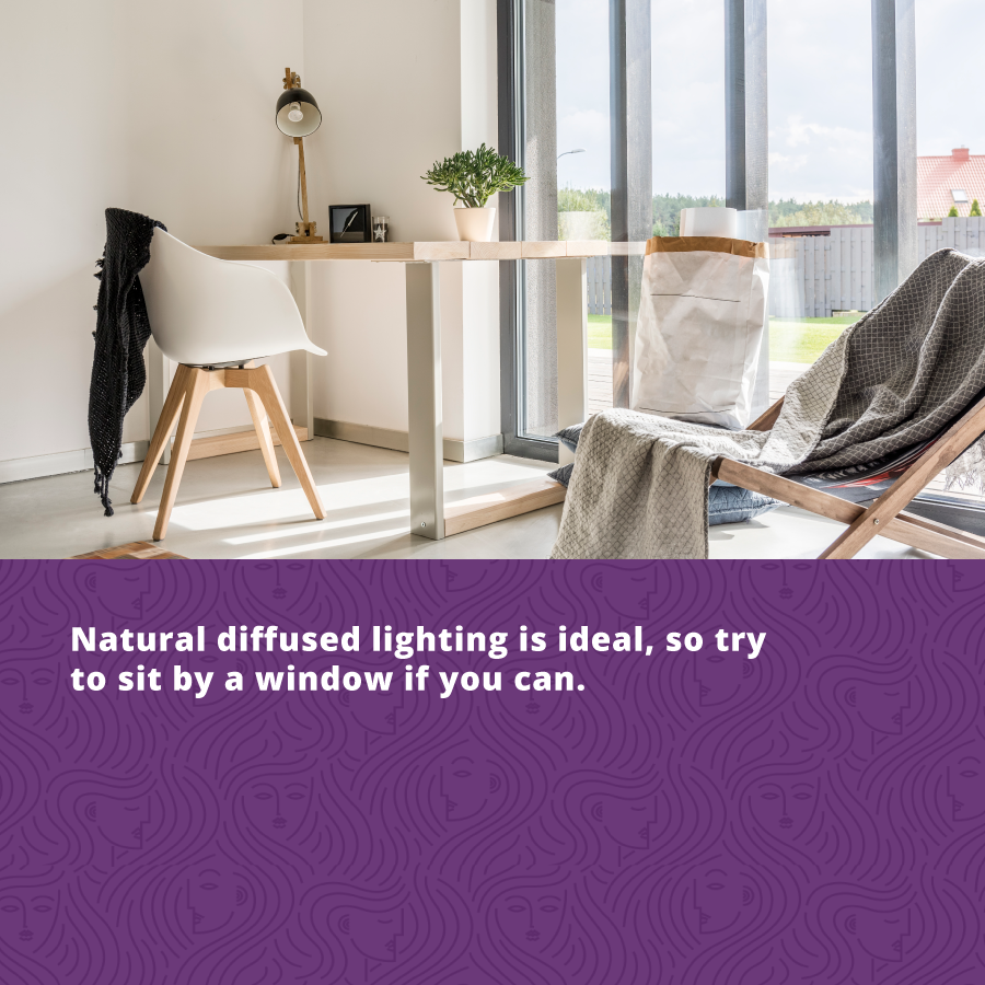 Look your Best on Your Next Zoom Call - Use Natural Diffused Lighting