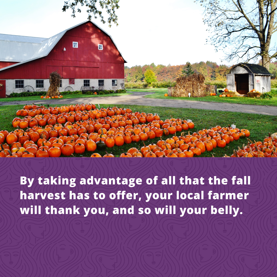 Holistic Health Superfoods - Take advantage of the fall local harvest - your body will thank you and so will your local farmer!