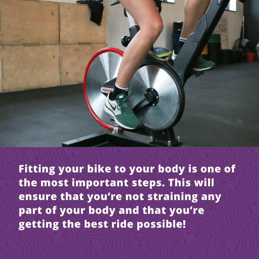 Fitting your bike to your body for your Women's Cycling Classes is the most important step.