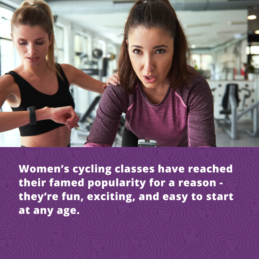 Women's cycling classes have reached their famed popularity for a reason - they're fun, exciting, and easy to start at any age.