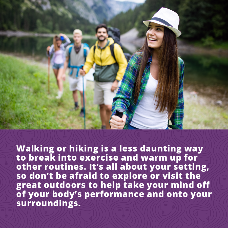 women's fitness plans including walking or hiking are a less daunting way to get in some exercise that you do not hate.