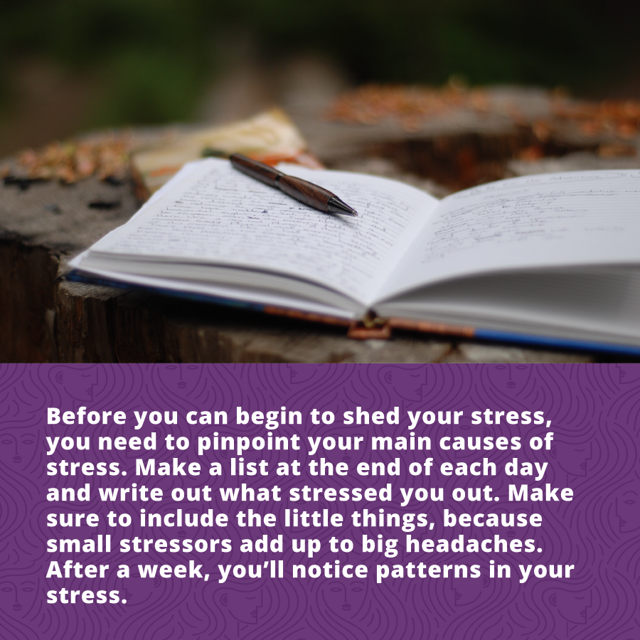 Before you can begin to reduce stress, you need to pinpoint your main cause of stress