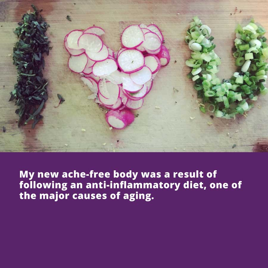 Feel Revitalized - My new ache-free body was a result of following an anti-inflammatory diet, one of the major causes of aging.