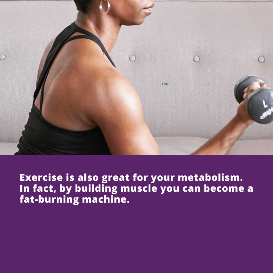 If you're wondering how to look younger, exercise can help by building muscle and, as a result, burning fat.